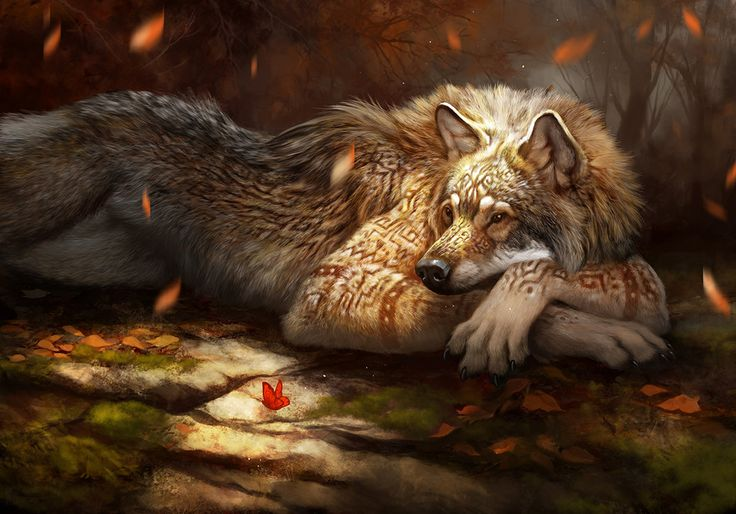 Red Gold (Werewolf calendar 2016) by ailah.deviantart.com on @DeviantArt