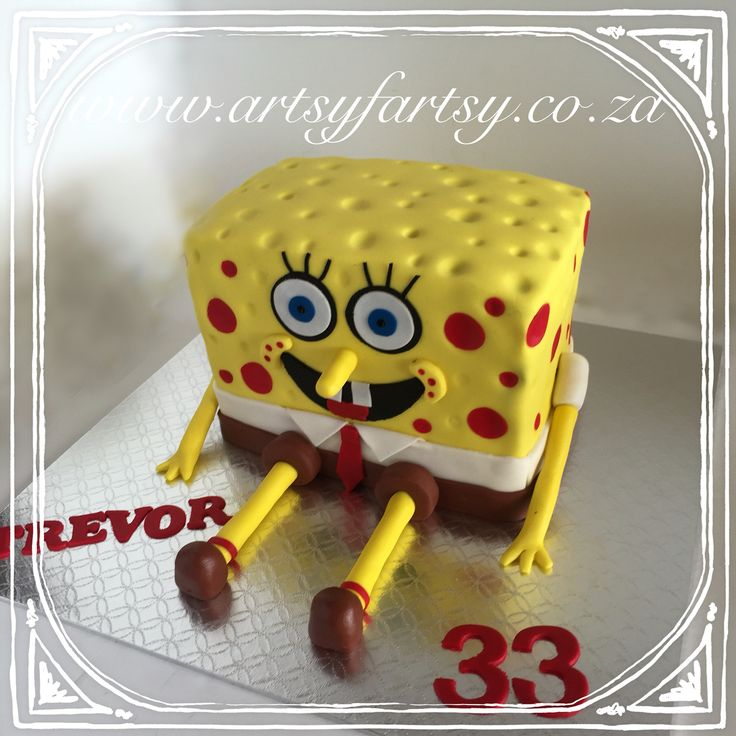 Sponge Bob Cake #spongebobcake