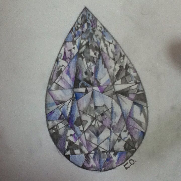As beautiful as a diamond. I love the detail that can be added into a diamond