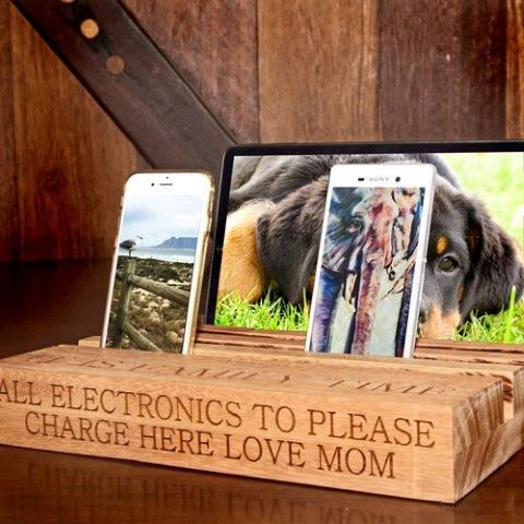 Personalised Wooden Electronics Stand