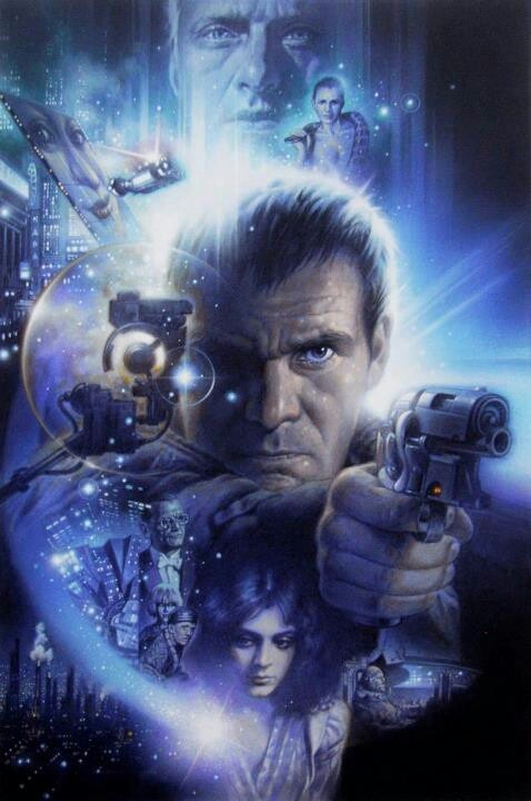 Blade Runner by Tsuneo Sanda Brilliant. One of my favorite films of all time and a lovely drawing by Sanda.