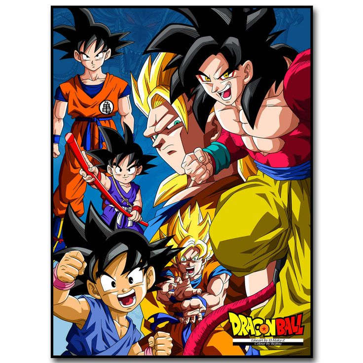 Dragon Ball Z Art Silk Fabric Poster Print 13x18 24x32inch Japanese Anime Goku Picture for Living Room Wall Decor Gift 032