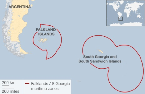 The Falkland Islands and South Georgia and South Sandwich Islands are British Overseas Territories