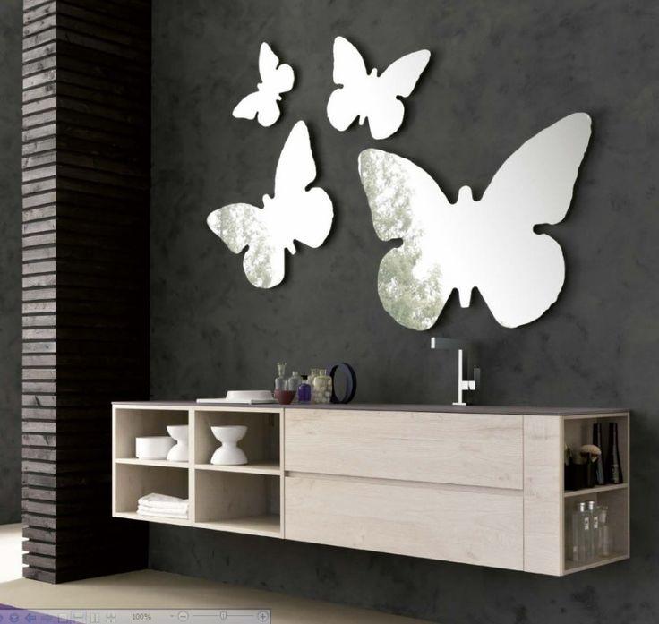 Arredo mobile bagno Tulle Composizione Farfalle Archeda