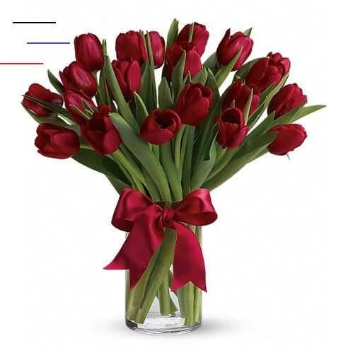 Red Tulip Bouquet At Send Flowers In 2020 Valentinstag Blumen Rote Tulpen Rote Rose Blume