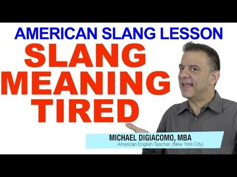 American Slang Lesson – Talking About Being Tired or Exhausted in Slang | Happy English - Free English Lessons