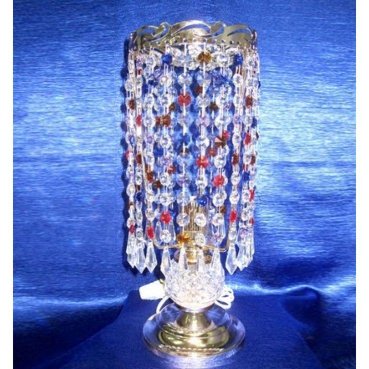 Купить настольную лампу хрустальную Анжелика 2 Меланж карандаш в интернет-магазине Люкс Свет +7 (4922) 60-02-05, низкая цена от производителя из Гусь-Хрустального, фото, отзывы
