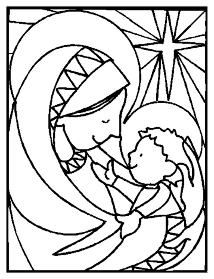 12 best AdventChristmas coloring pages images on Pinterest