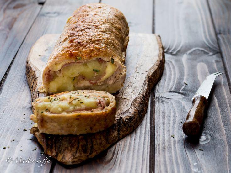 Polpettone+di+pollo+ripieno+con+purè,+prosciutto+e+formaggio
