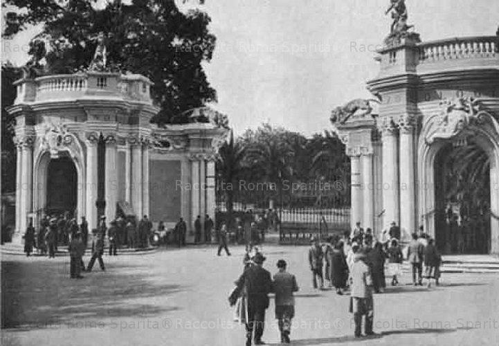 Foto storiche di Roma Ingresso del Giardino Zoologico