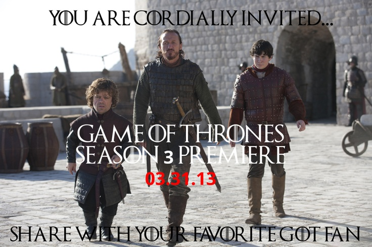 Explore this interactive image: You're Invited to the Game of Thrones Season 3 Premiere by tv.com