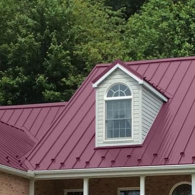 Standing Seam Galvanized Steel Roof Panel In Classic   The Home Depot