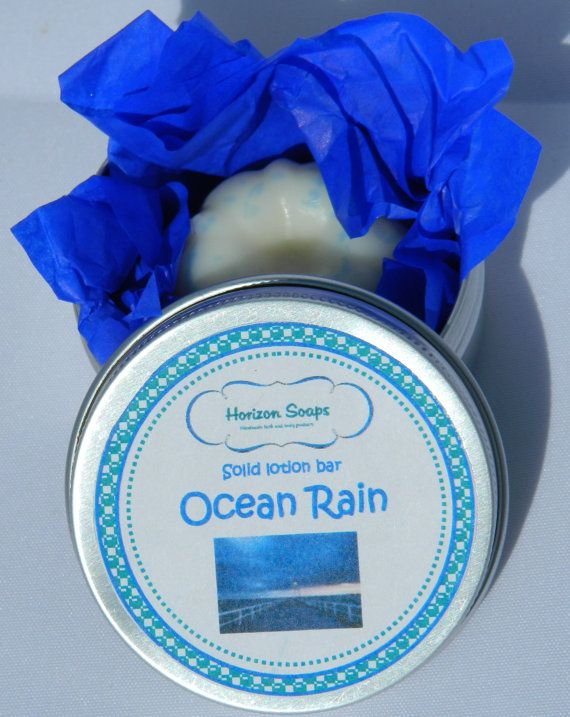 Massage bar / Solid lotion bar Ocean Rain mannen door HorizonSoaps