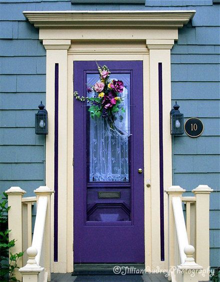 6994 best images about doors windows on pinterest wooden doors blue doors and funchal - Purple exterior paint image ...