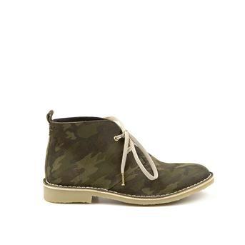 Manfield groene suède desert boots