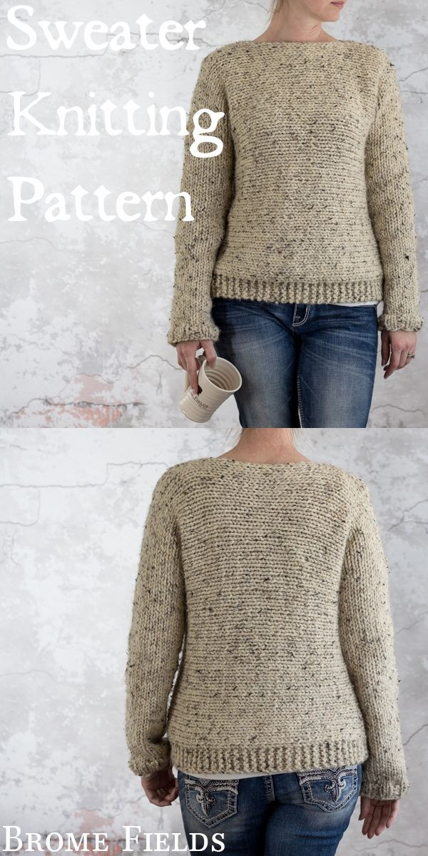 Sweater Knitting Pattern Solace Brome Fields Knit From Left To