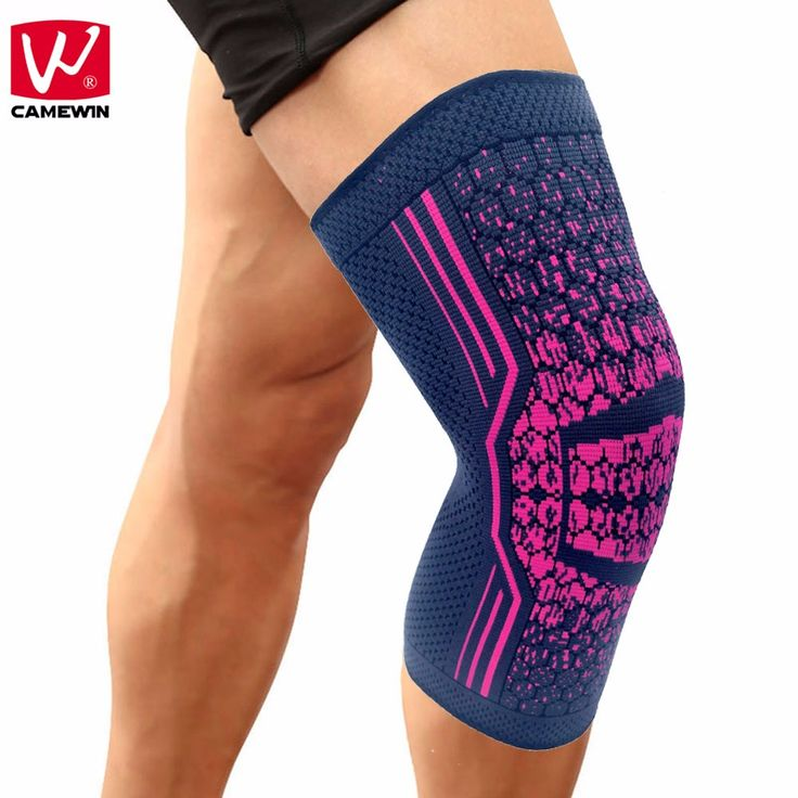 CAMEWIN 1 PCS Knee Compression Sleeve Support for Running, Jogging, Sports, Joint Pain Relief, Arthritis and Injury Recovery