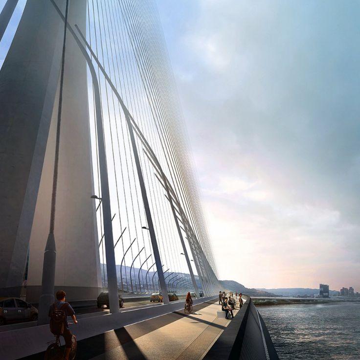 Danjang Bridge in Taipei. Zaha Hadid Architects
