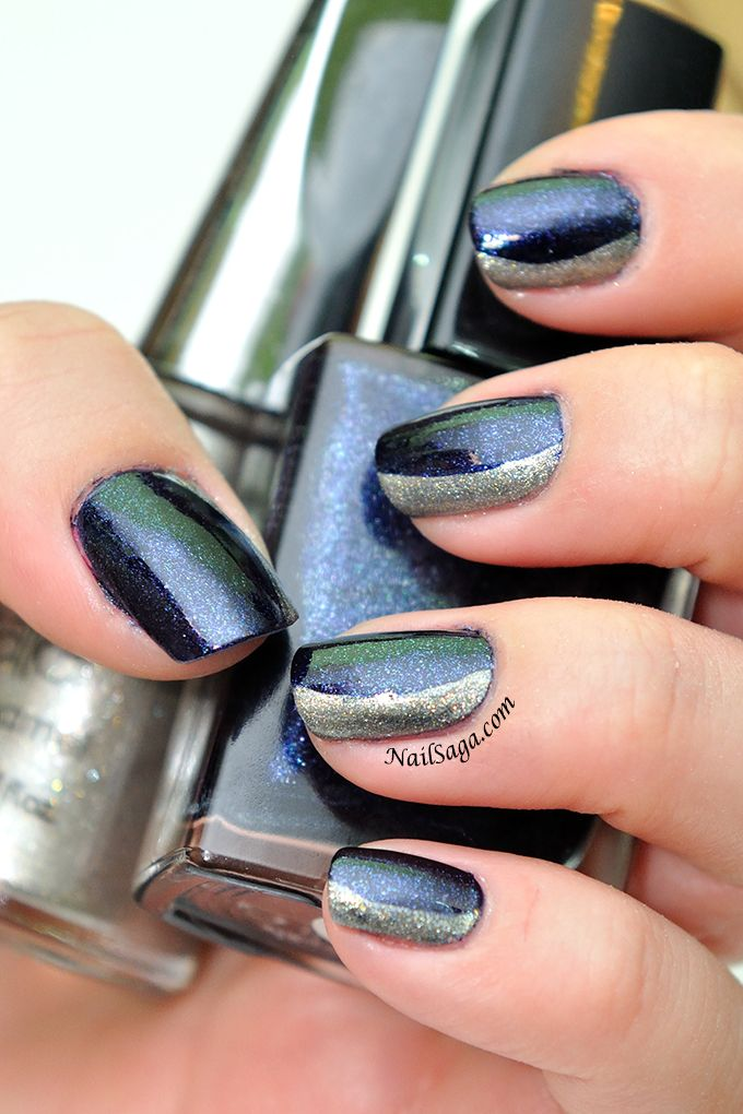 Siberian blue nail design