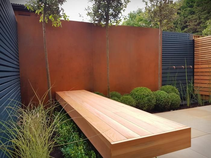 Image Result For Corten Steel Contemporary Garden Design Contemporary Garden Steel Retaining Wall