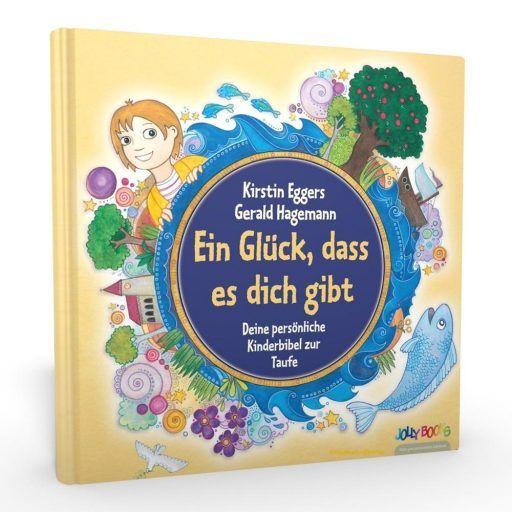 personalisierte Kinderbibel zur Taufe - Ein Glueck dass es dich gibt - Taufgeschenk