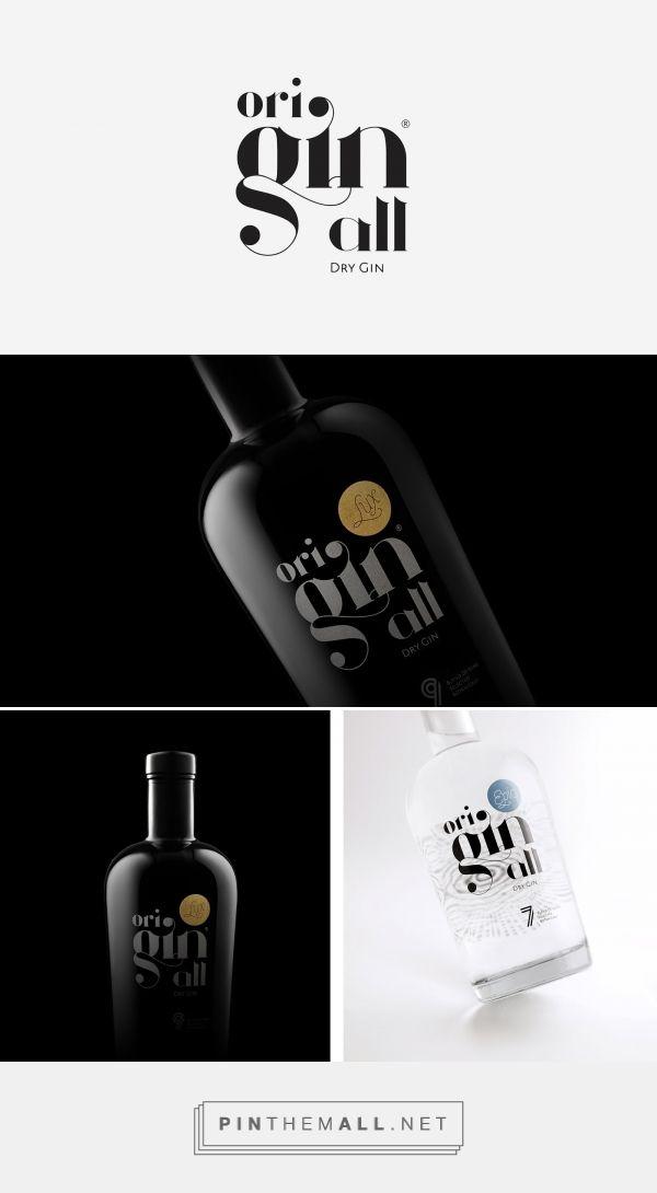 Originall gin packaging design by Rui Veríssimo Design - https://www.packagingoftheworld.com/2018/03/originall.html