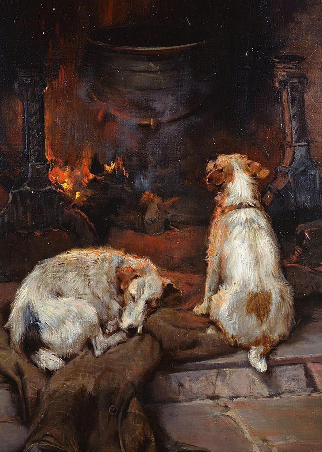 """""""By the Hearth"""" by Philip Eustace Stretton    http://fineartamerica.com/featured/by-the-hearth-philip-eustace-stretton.html"""
