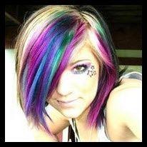 .Hair Ideas, Crazy Hair, Rainbows Hair, Hair Colors, Makeup, Beautiful, Hair Style, Wigs, Colors Hair
