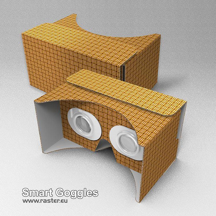 Smart Goggles (pattern 004) #VirtualReality #AugmentedReality #Cardboard #VR #AR #Advertising #Marketing
