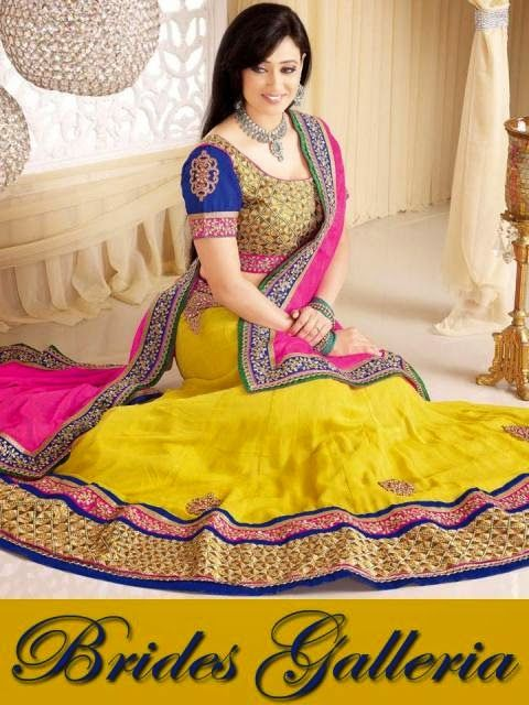 Stylish Lehenga Choli Collection For Young Girls With Shweta Tiwari From 2014-15 By Brides Galleria