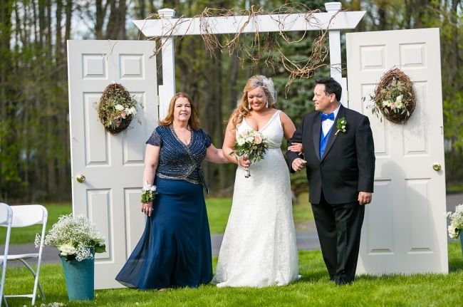 Wedding ceremony doors!  Romantic, vintage, hand built doors for your unforgettable entrance down the aisle. For sale here!