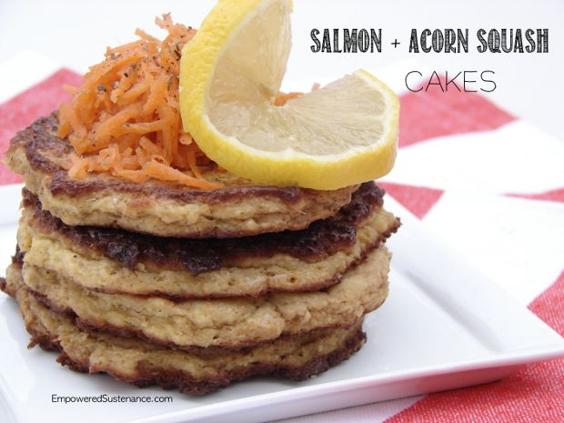 Salmon and Acorn Squash Cakes (grain free). These travel so well and are great for a lunchbox!