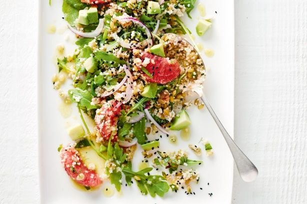 Ancient grain salad with avocado and grapefruit main image