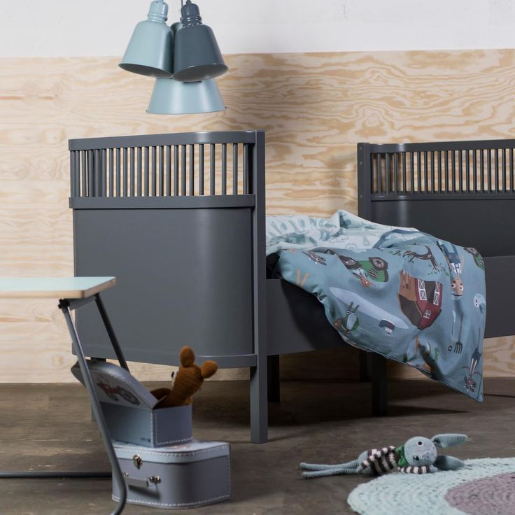 #lit #evolutif #enfant #gris #Sebra #bed #kid #grey #design #deco #decoration #interieur #interior