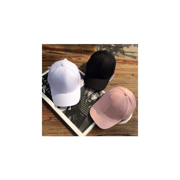 Plain Baseball Cap ($9.41) ❤ liked on Polyvore featuring accessories, hats, brim cap, baseball caps, adjustable baseball caps, adjustable hats and adjustable baseball hats