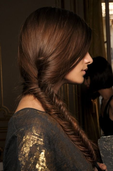 Fishtail Braid ~ 40 Gorgeous and Popular #Brunette #Hairstyles - Style Estate -