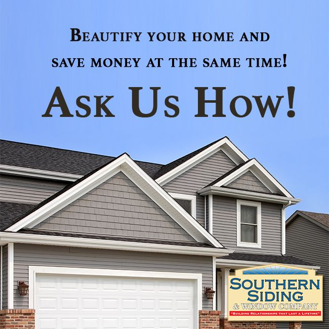 Our vinyl siding will not only make your home beautiful on the outside, but will also make it more comfortable on the inside and save you money on your heating and cooling bill. That is because our siding is thoroughly insulated. Having our vinyl siding installed on your home will add value to your home. So call us today to schedule a Free in-home estimate! #VinylSidingColumbia #VinylSidingCamden #VinylSidingCayce
