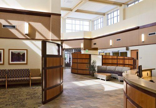Nursing home interior design main entrance lobby for House entrance designs interior