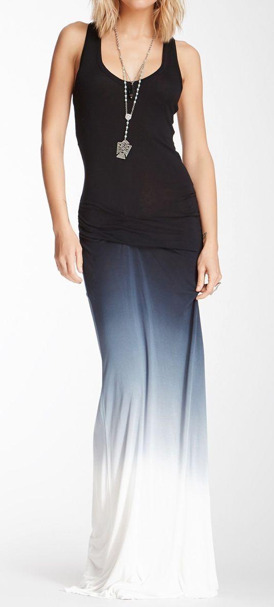 Navy Ombre Maxi Dress