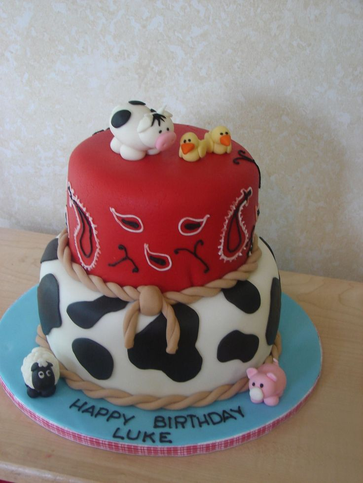 barnyard birthday cake | Farm Theme — Children's Birthday Cakes