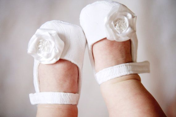 White baby shoes christening wedding or by MartBabyAccessories, $18.95