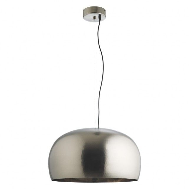 Marteau pewter large metal ceiling light