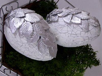 SwiatDecoupage.pl: płynny metal srebro - pisanki
