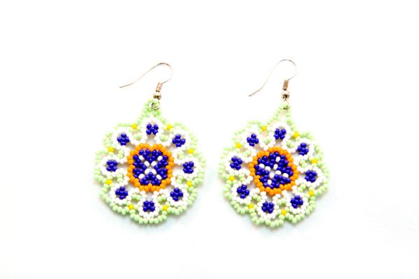 Huichol Beadwork Earrings