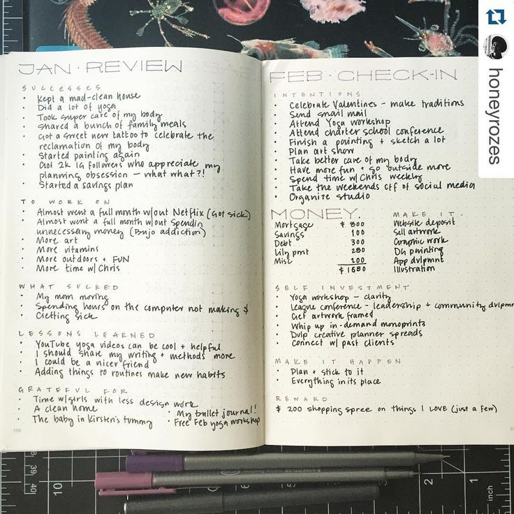 END OF MONTH REFLECTION #Repost @honeyrozes with @repostapp. ・・・ #planwithmechallenge Day 31 : January review, part 2 . Trying out monthly reviews and projections and I think I love them!! I had assumed I'd accomplished more in January than I really did, so I'm gonna try a little harder next month. Not sure how the rewards will work out for me though... I have a way of just giving myself the rewards as soon as I decide on what it is because I obviously lack control in that arena. #planner…