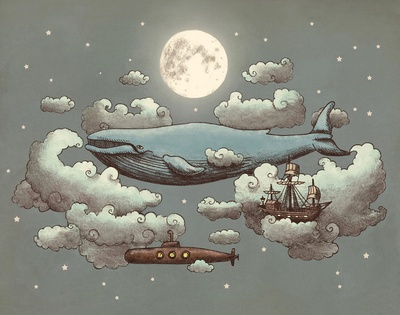 Ocean Meets Sky by Terry FanOcean Meeting, Terry Fans, Kids Room, Art Prints, Whales Ships, Kid Rooms, Midnight Stroll, Meeting Sky, Whales Dreams