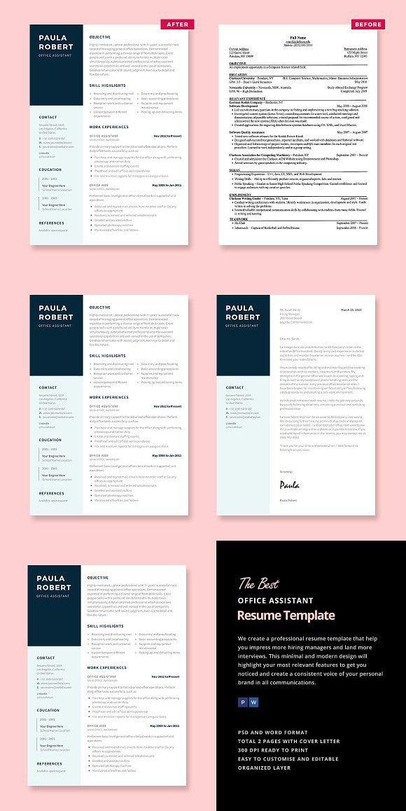 Více než 25 nejlepších nápadů na Pinterestu na téma Office - office assistant resume template