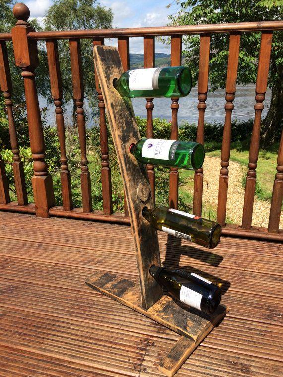 Estante del vino de madera de barril de whisky por AndersonBespoke