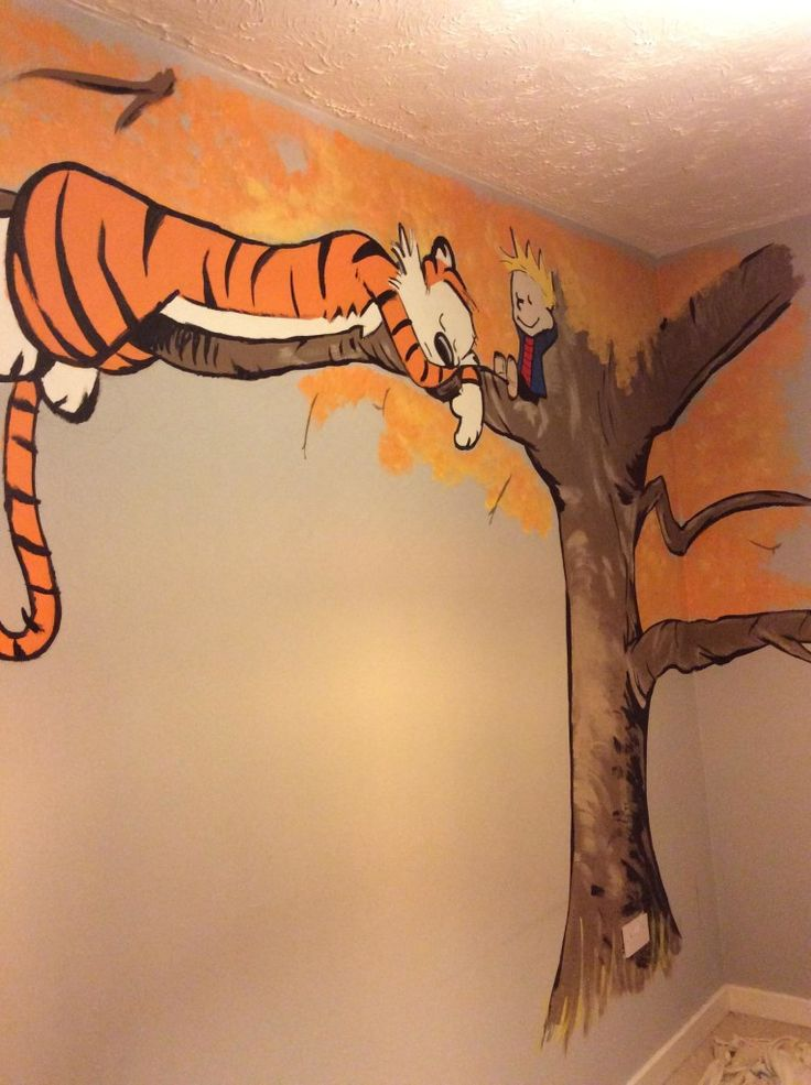 Calvin and Hobbes Nursery Mural