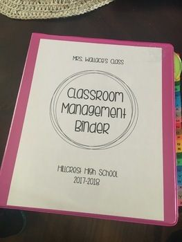 This editable binder is designed to be used in the upper grades or secondary classroom. It includes a student information survey, student behavior log, hall passes, hall pass log, tardy log, and documentation sheet for missing work. Using this binder helps teachers keep all behavior